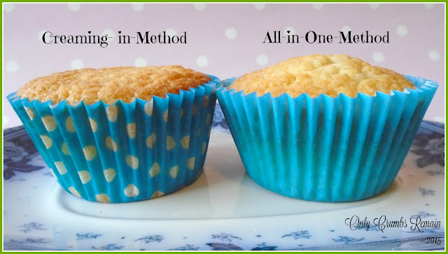 Difference between the creaming-in-method and the al- in-one-method.