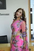 Angela Krislinzki Rogue Movie Fame Telugu Actress in Saree Backless Choli 107.JPG