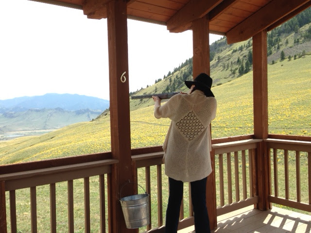 Amy West shoots clay in Montana