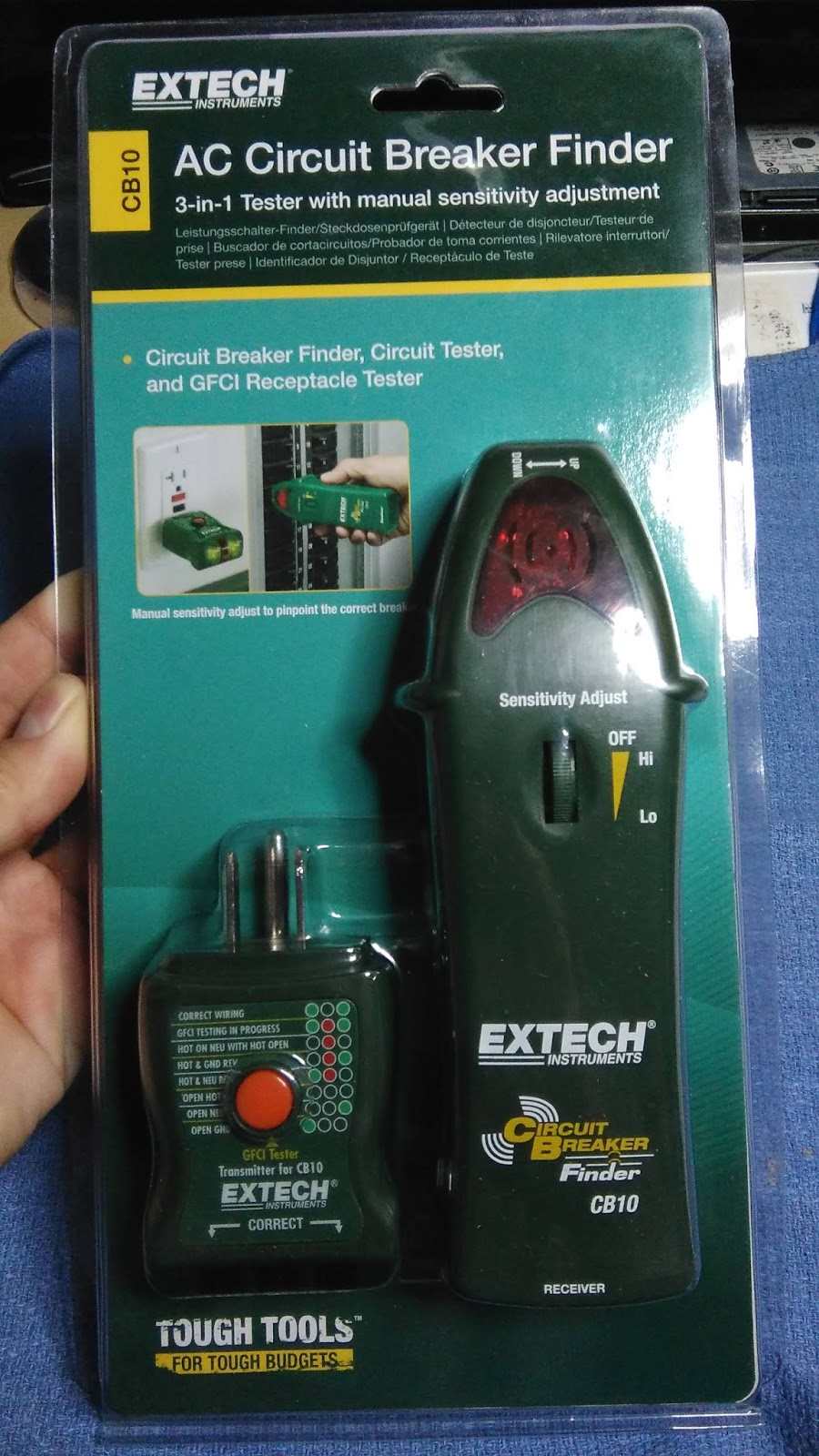 Tech Stuff Extech Cb10 Circuit Breaker Finder How To Test A Gfci Heres The Package Arrives Unfortunately It Does Not Come With Case Or Bag Keep Safe Like My Toner Did Would Be Nice If Have One