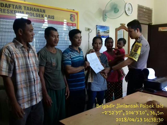 Berkat Peran Anggota Polri, Biduk Rumah Tangga Pasutri di Muba Terselamatkan