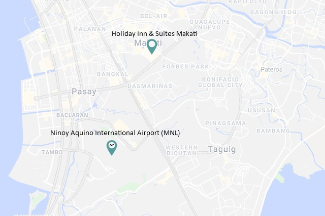 Location of Holiday Inn & Suites Makati image courtesy of GoogleMaps