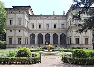 The northern aspect of the Villa Farnesina, which was  Agostino Chigi's summer palace in Rome