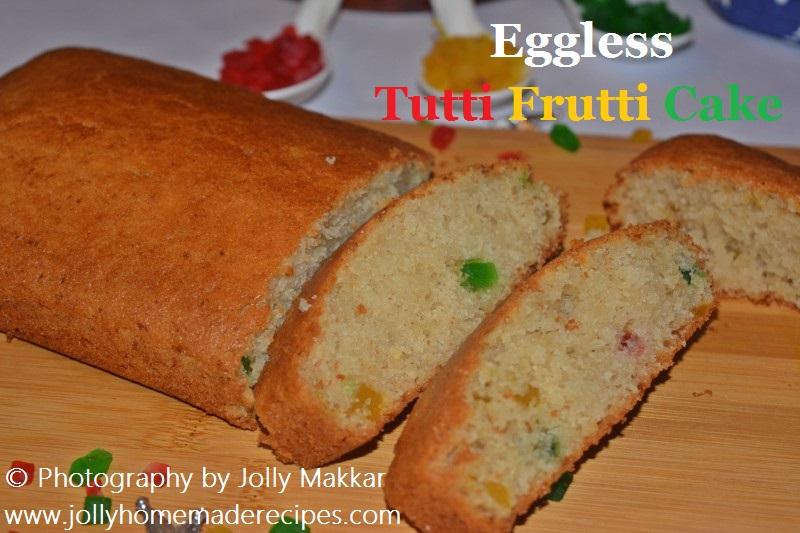 Eggless Tutti Frutti Cake Recipe, How to make Eggless Tutti Frutti Cake   Semolina Cake