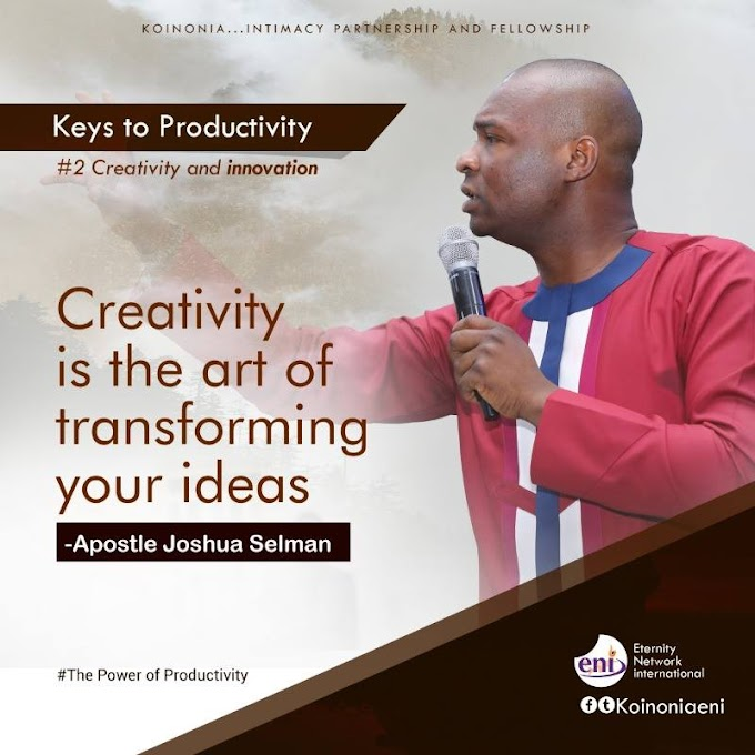 Apostle Joshua Selman – The Power of Productivity [Koinonia Sermons]