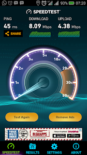 Kecepatan Internet Telkomsel pagi hari