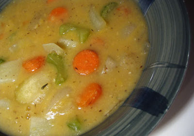 Creamy Split Pea & Vegetable Soup
