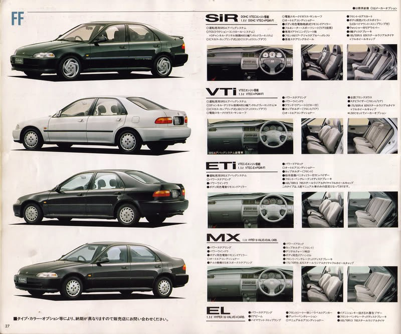 Brochure Honda Civic '92