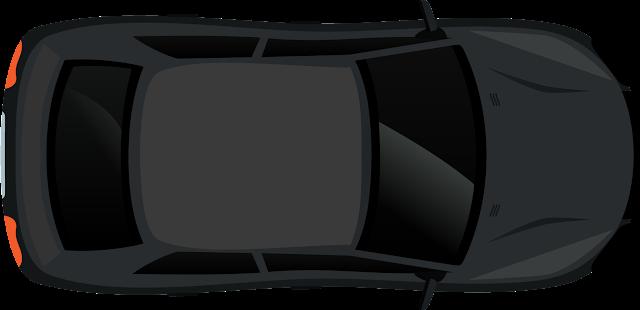 Siyah Araba Vektörel
