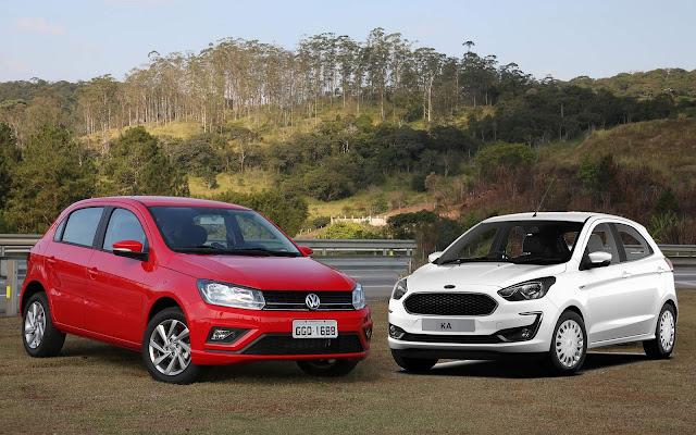 Novo Ford Ka 2019 Automático x VW Gol 2019 Automático - comparativo - qual a melhor opção?
