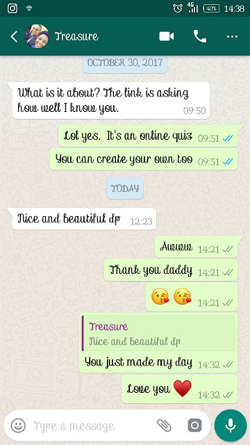 Cute conversation between a Nigerian lady and her Dad