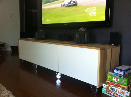 i gave it my besta shot tv console ikea hackers. Black Bedroom Furniture Sets. Home Design Ideas