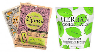 Chimes Ginger Chews Herban Essentials Peppermint Wipes Stomach Troubles