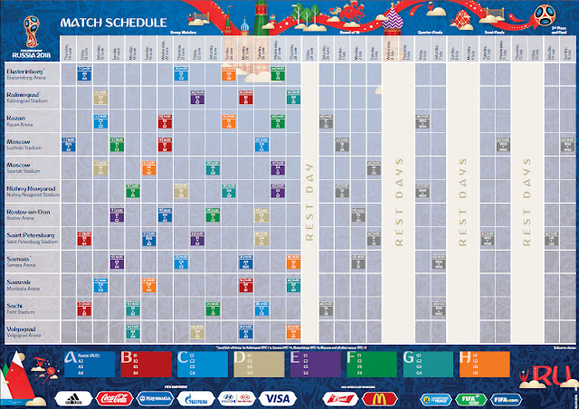 2018 FIFA WORLD CUP RUSSIA™ - MATCH SCHEDULE | INDO NEWS