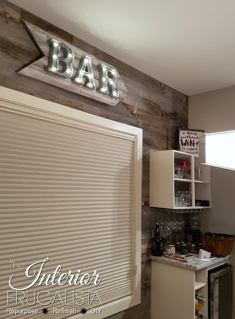 Rustic Marquee Bar Sign featured at Talk of the Town | knickoftime.net