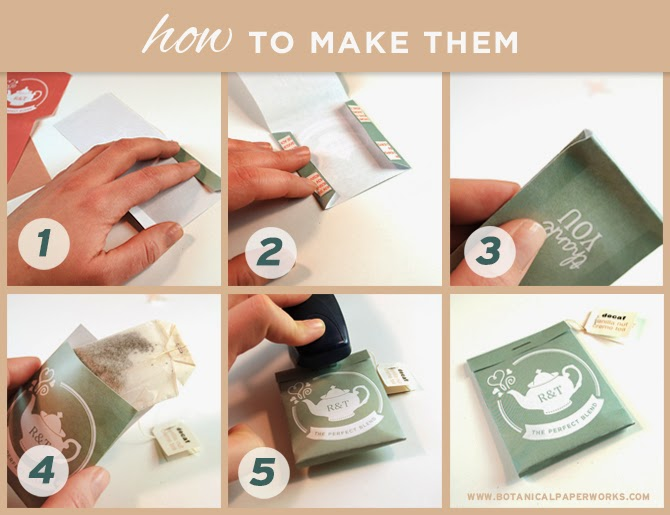 how to make tea bag favors