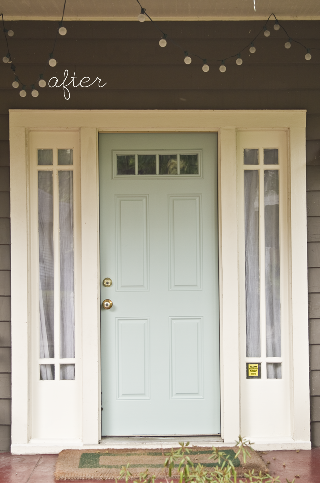 Black and White and Loved All Over: A Blue Front Door.
