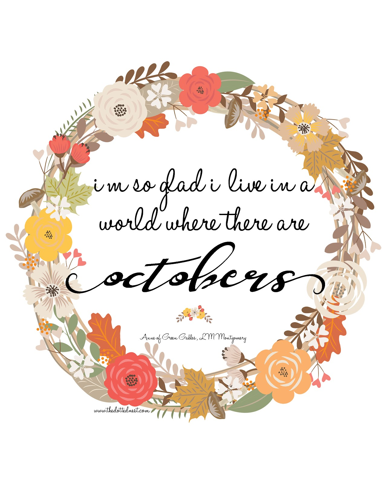 3 Quotes October Birthday Card Anne Of Green Gables