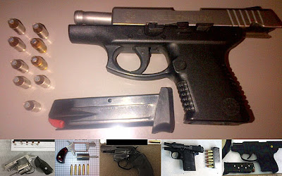Firearms Discovered at (L-R) BNA, GPT, AMA, DEN, TPA