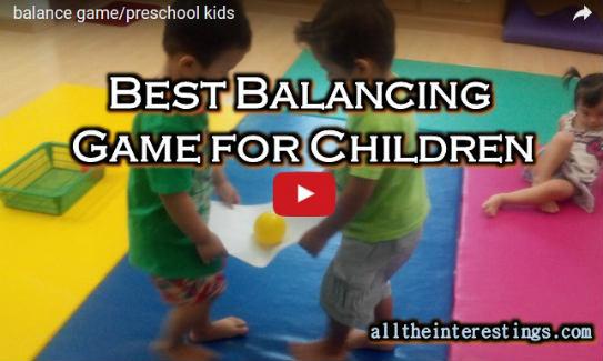Fun Balance Game For Kindergarten Kids