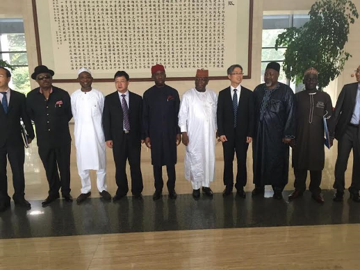 Photos: Governors of Delta, Zamfara, Plateau, Anambra, Osun states in China for the China-African business forum