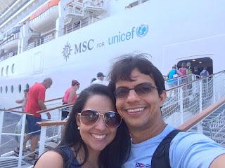 Embarcando para o cruzeiro no navio Msc Magnifica pelo litoral brasileiro
