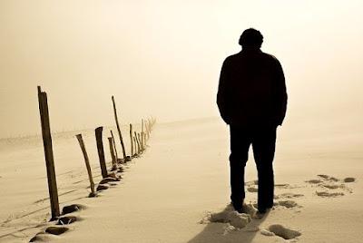 sad alone boy walking dp and image