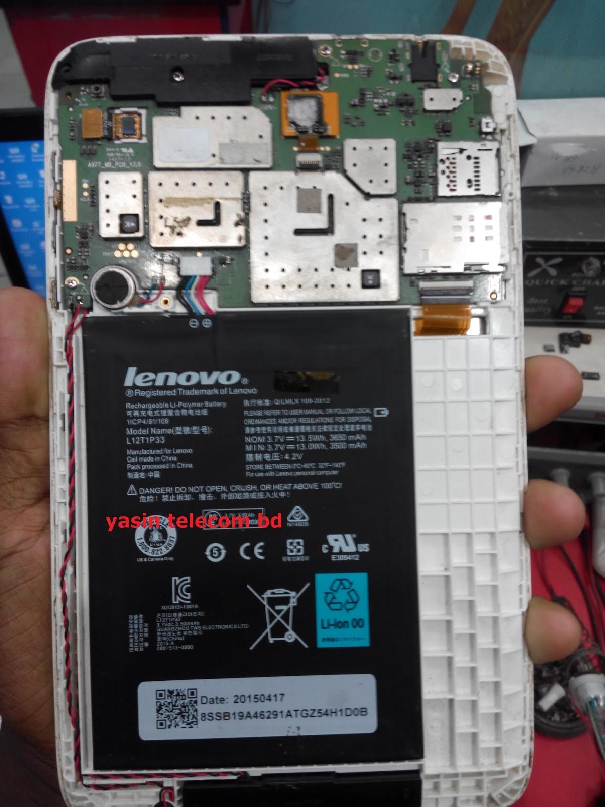 YASIN TELECOM BD: LENOVO L12T1P33 FLASH FILE CPU: MT6582