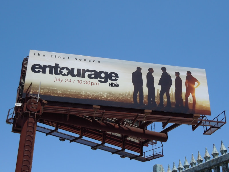Entourage season 8 TV billboard