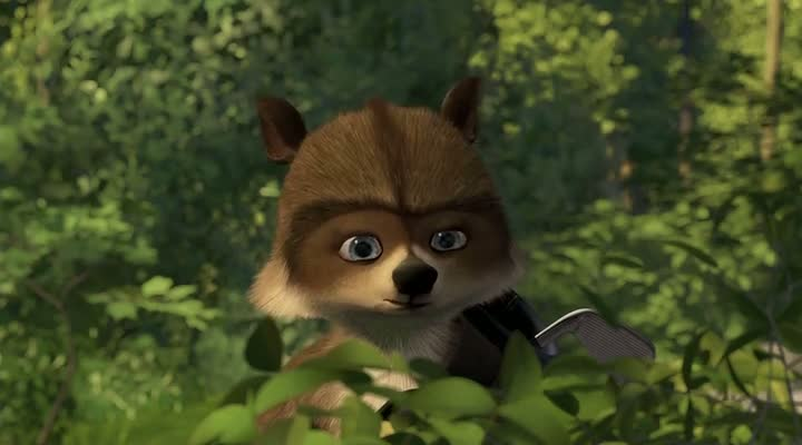 Screen Shot Of Over the Hedge (2006) Dual Audio Movie 300MB small Size PC Movie