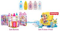 Logo Johnson&Johnson ''Regali da sogno'': vinci kit Fisher Price e Barbie, omaggi e coupon e buoni spesa da 25€
