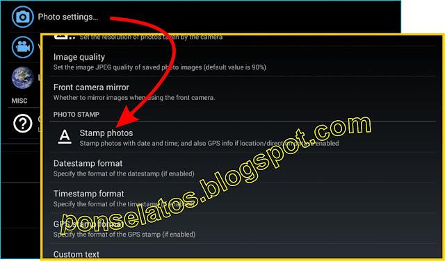 Cara Menampilkan informasi Tanggal Pada Kamera Ponsel Android