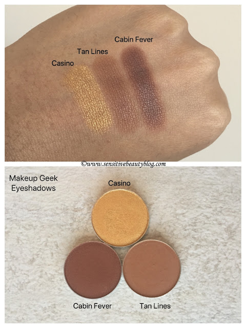Makeup Geek eyeshadows casino tan lines cabin fever