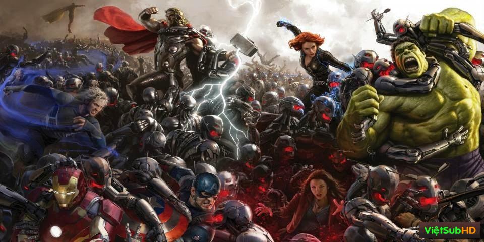 Phim Biệt Đội Siêu Anh Hùng 2: Đế Chế Ultron VietSub + TM Full HD | Avengers 2: Age Of Ultron 2015