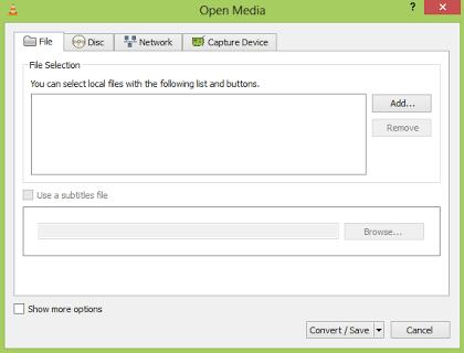 Konversi video dengan VLC media player