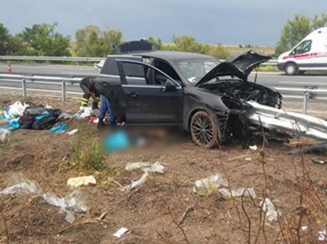 Gurbetten gelen Bozovalı aile kaza yaptı :2 Ölü