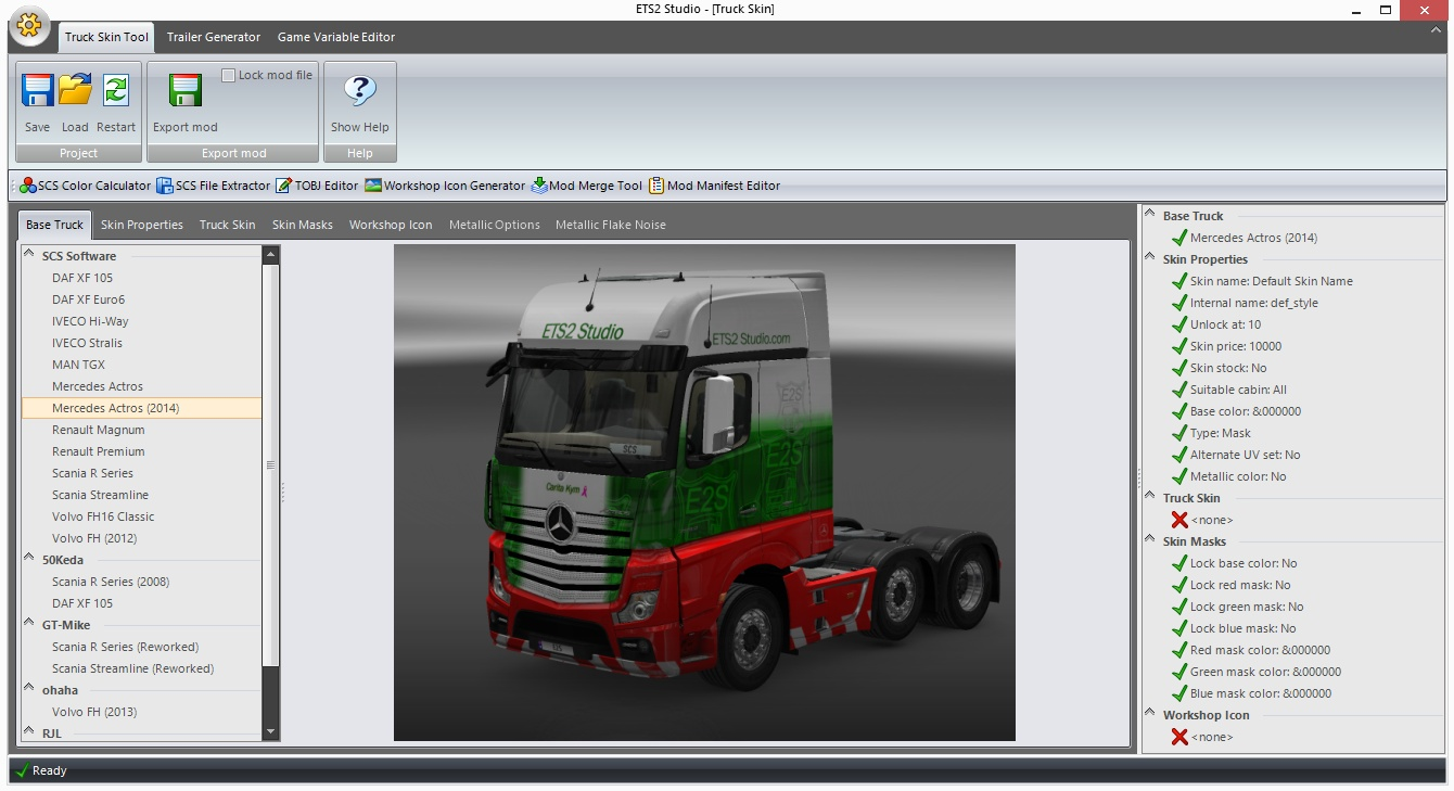 ETS2 make your own skin - Select truck model