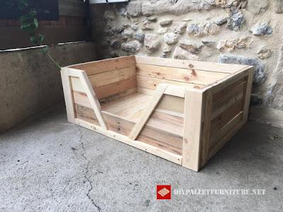8 camas para perros hechas con palets