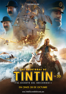 Cartel de Las aventuras de Tintin
