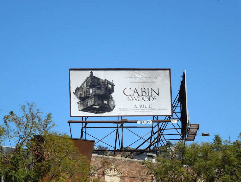 Cabin in the Woods movie billboard