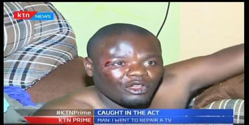 Omg!!! Man Ruthlessly Beaten After Being Caught Allegedly Sleeping with Another Man's Wife (Photo+Video)