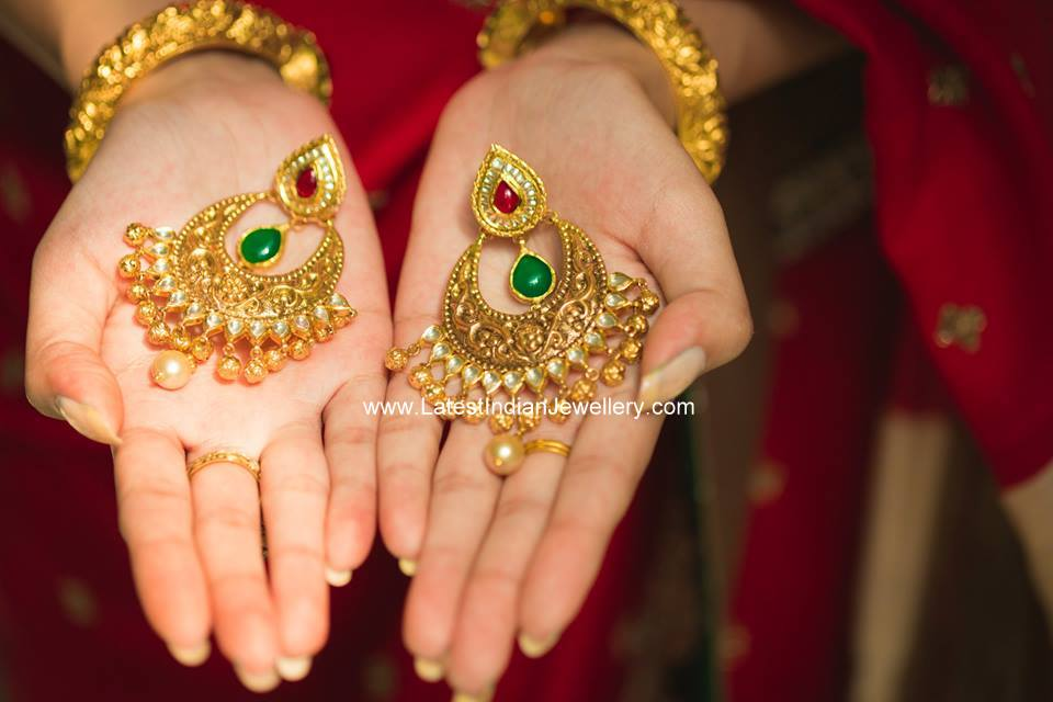 Mughal Design Chand Bali Earrings