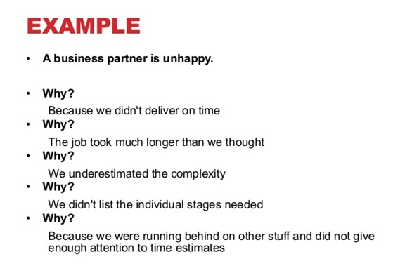 iCert Global The 5-Whys u2013 and Root Cause Analysis Quality - root cause analysis sample