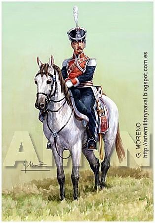 Guardia Real. Flanqueador Fernando VII