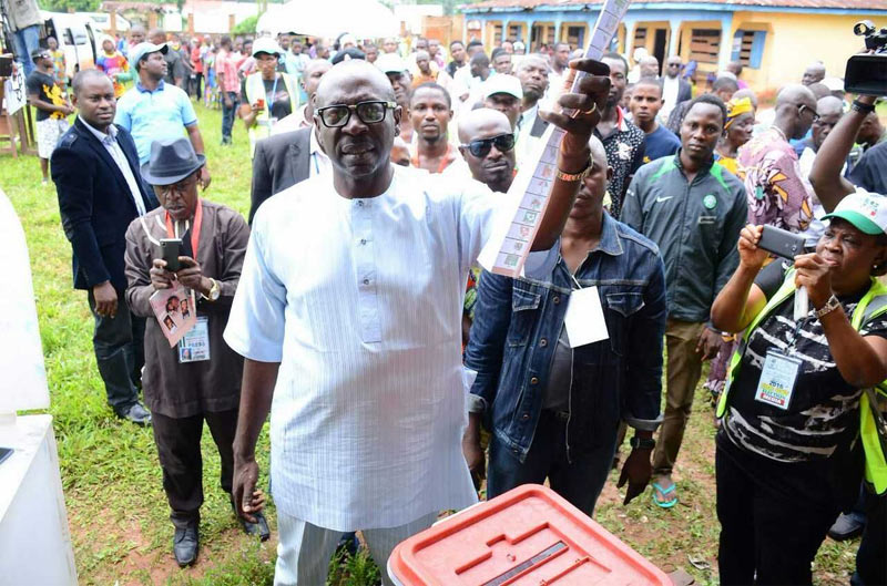 #EdoDecides: PDP candidate Ize-Iyamu casts vote