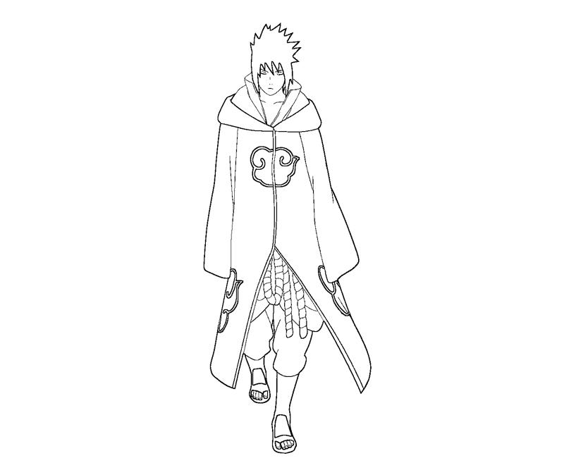 Sasuke Uchiha 22 Coloring Crafty Teenager