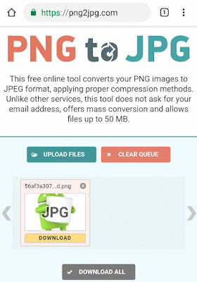 Convert PNG images to JPG online