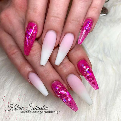 Thinking about having your nails done however can 39+ Coffin Acrylic Nails Ideas With French Ombre Nails In Style 2019