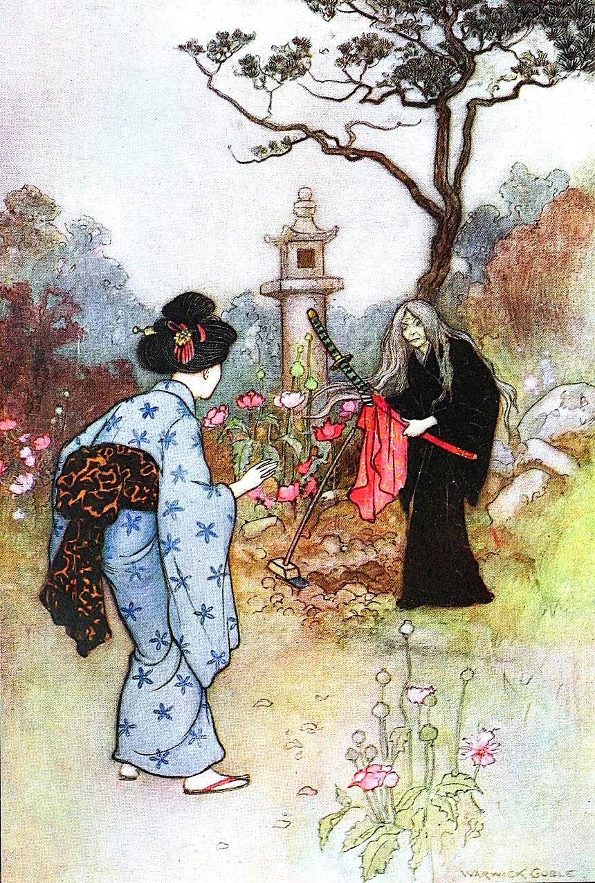 a Warwick Goble children's book illustration