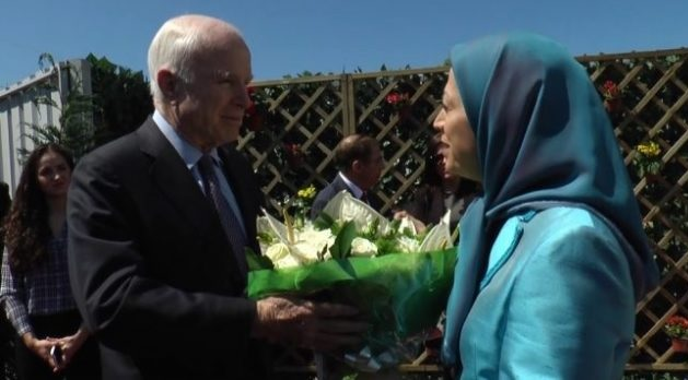 McCain met Rajavi and mujahedin people in Tirana